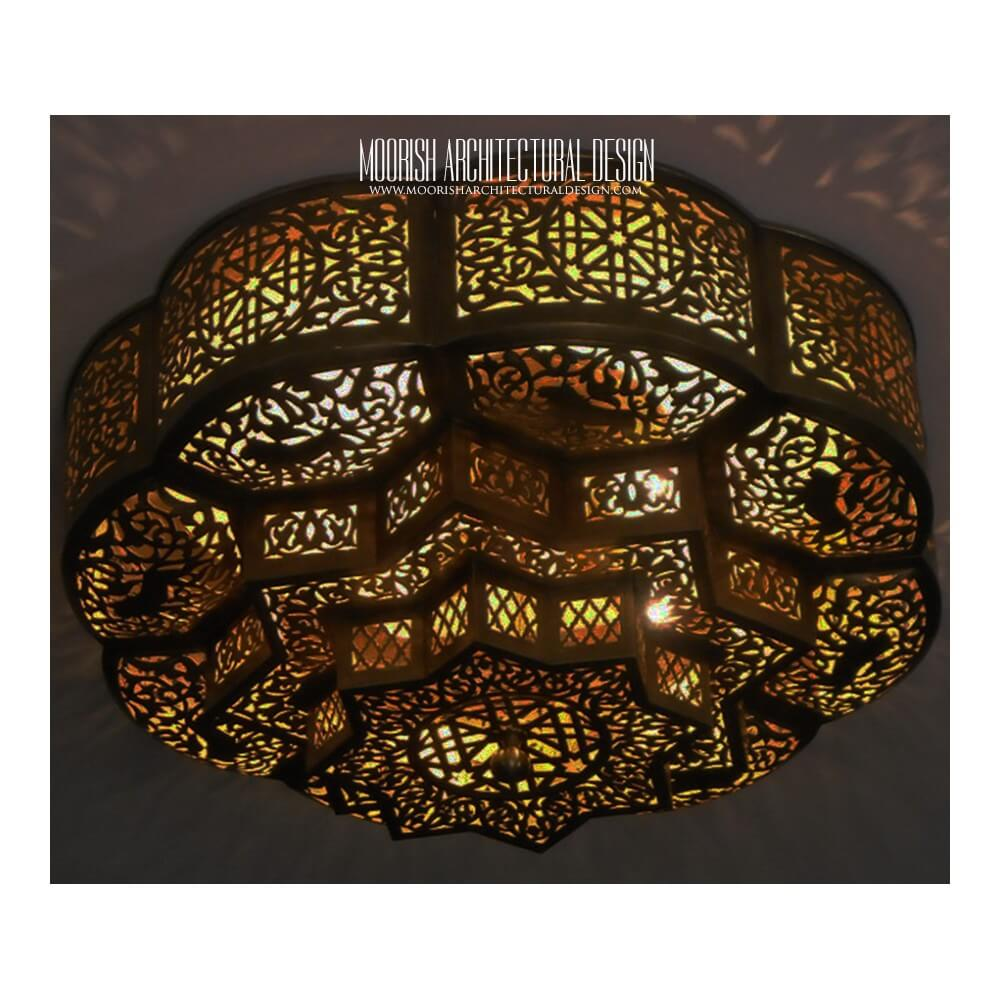 Moroccan Flush Mount Ceiling Lights | Exotic Flush ceiling lamps
