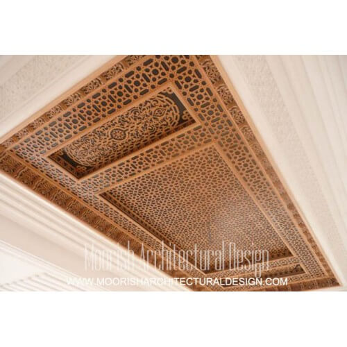 Moroccan Decorative Ceiling Arabian Wood Ceiling Design