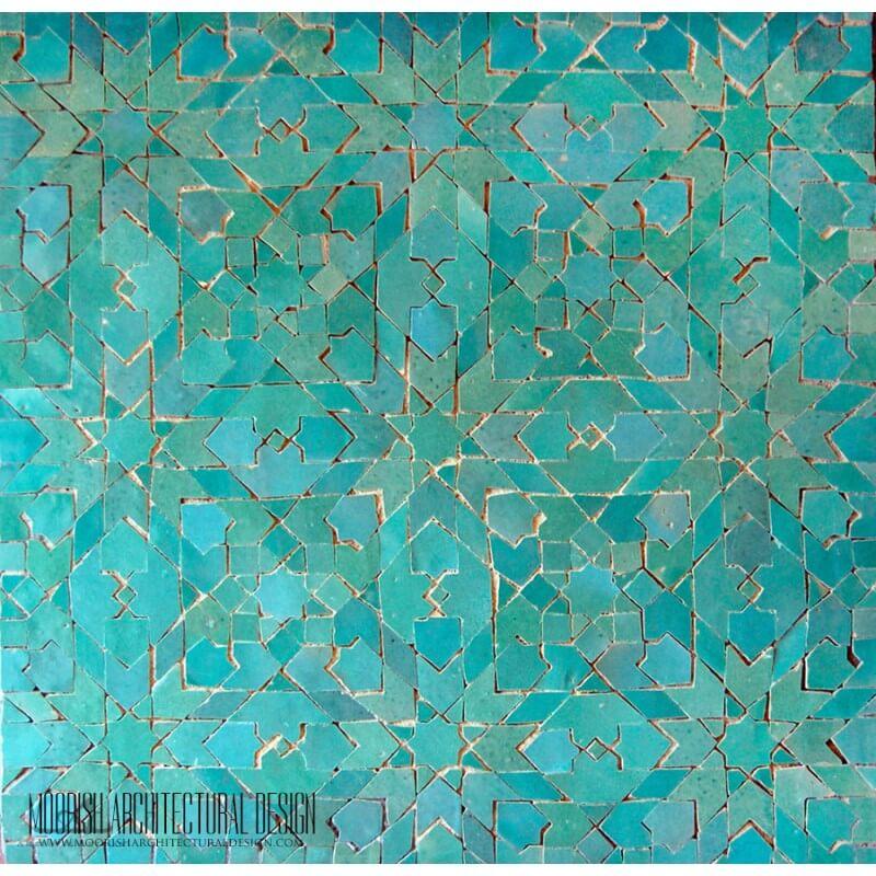 Aqua Green Moroccan Tile