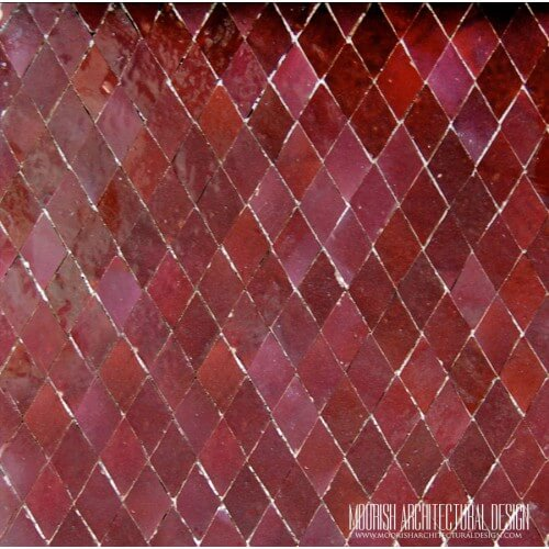 Red Moroccan Diamond Tile