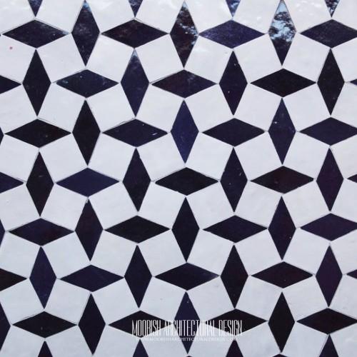 Moroccan Monochrome Tile 08