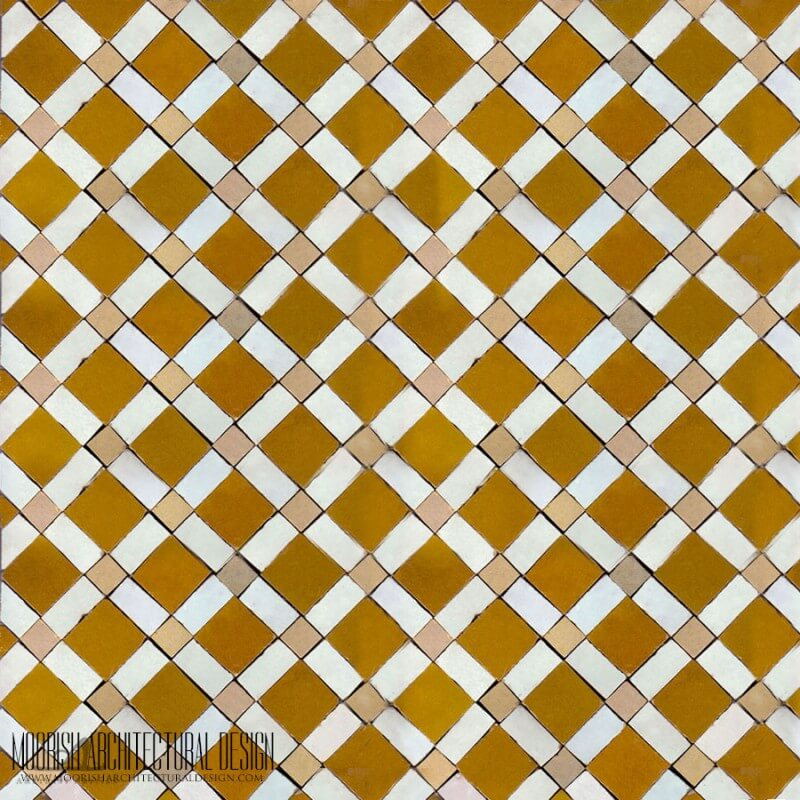 Moroccan checkerboard tile