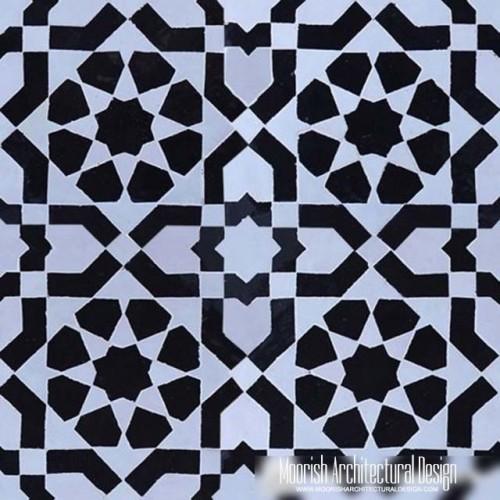 Moroccan Monochrome Tile 09
