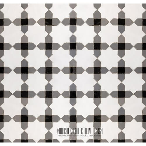 Moorish Monochrome tile