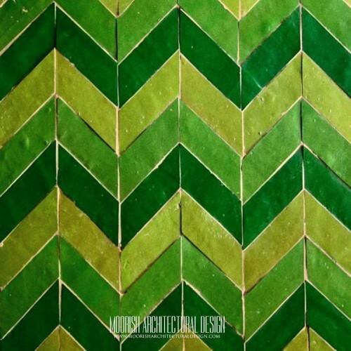 Moroccan herringbone Kitchen Tile pattern