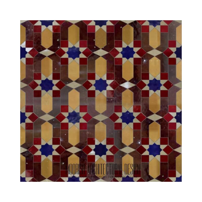 Traditional Moroccan zellige tiles Miami Florida