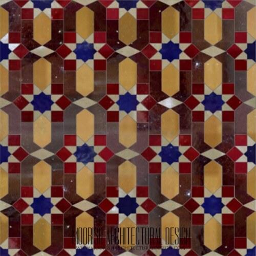 Traditional Moroccan zellige tiles Miami Florida