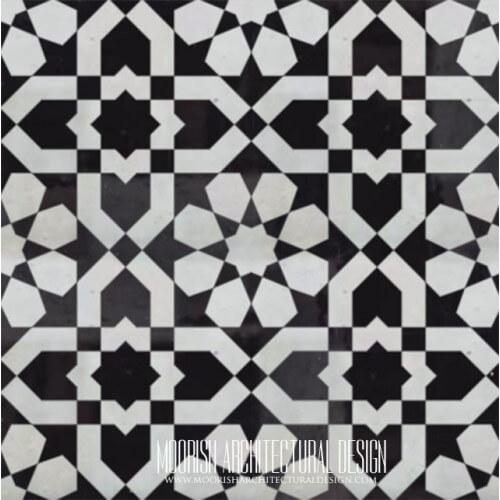 Moroccan Monochrome Tile 15