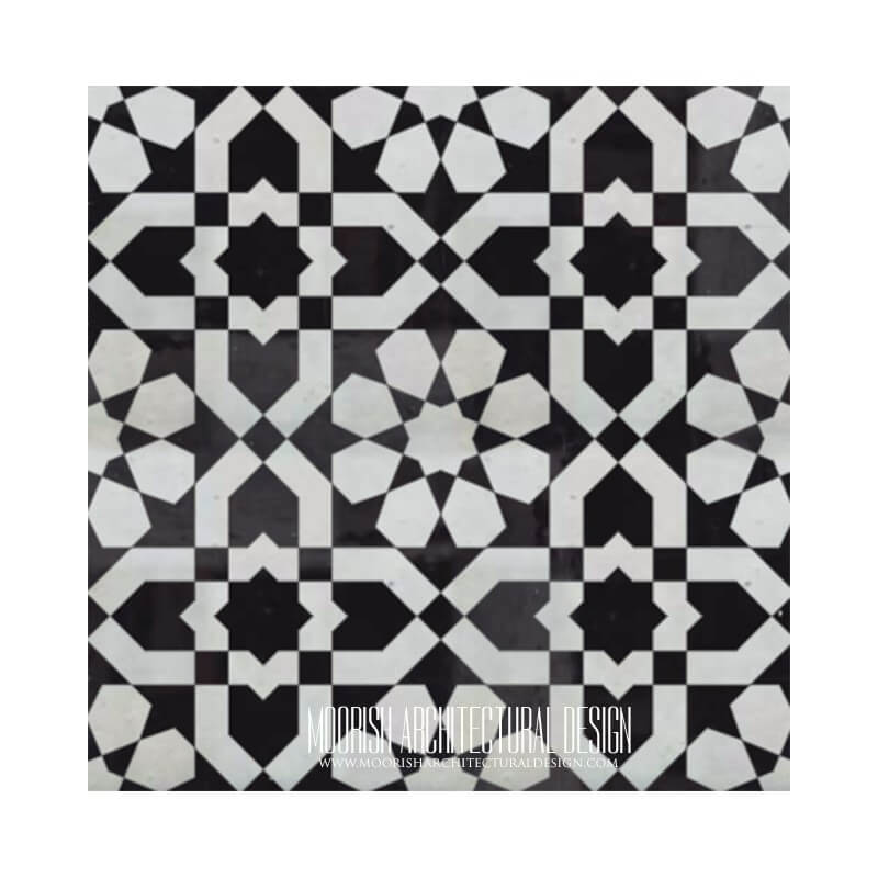 Moroccan Monochrome black and white pattern