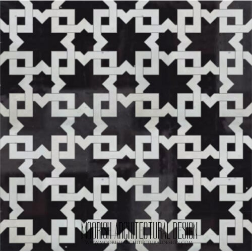 Moroccan Monochrome Tile 18