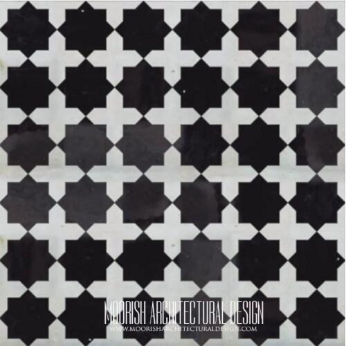 Moroccan Monochrome Tile 19