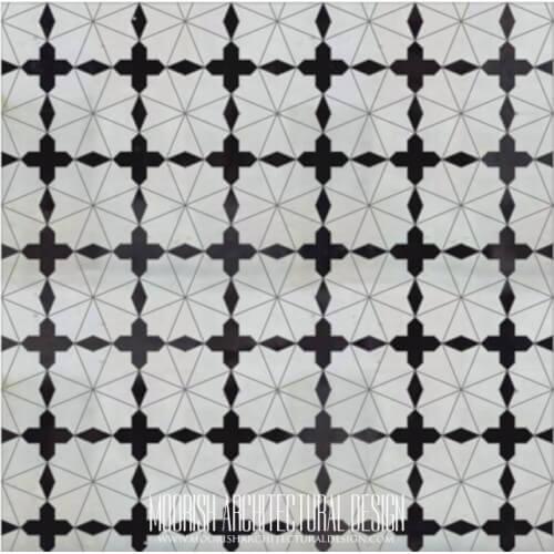 Moroccan Monochrome Tile 23