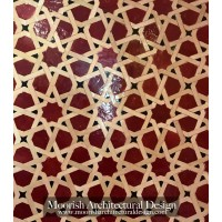 Red Moroccan kitchen tile