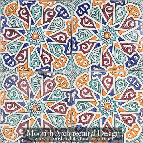 Moroccan Hand Painted Tile 44