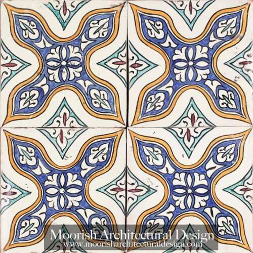 Moroccan Hand Painted Tile 45