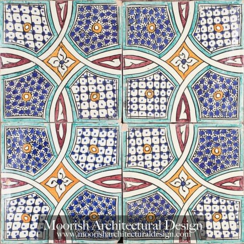 Moroccan Hand Painted Tile 46