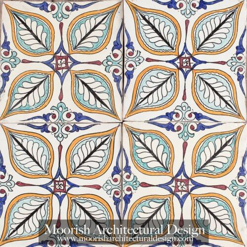 Moroccan Hand Painted Tile 48