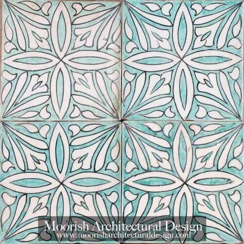 Moroccan Hand Painted Tile 49