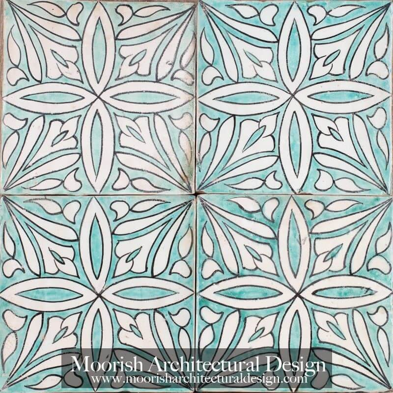 Spanish colonial bathroom tile