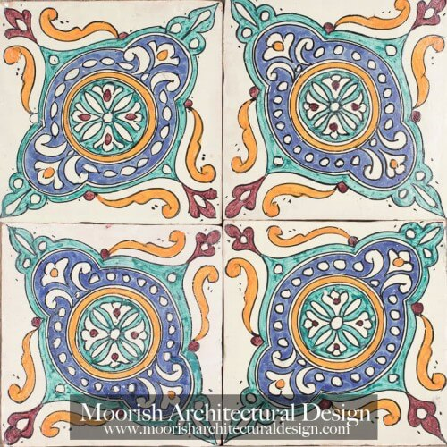 Moroccan Hand Painted Tile 50