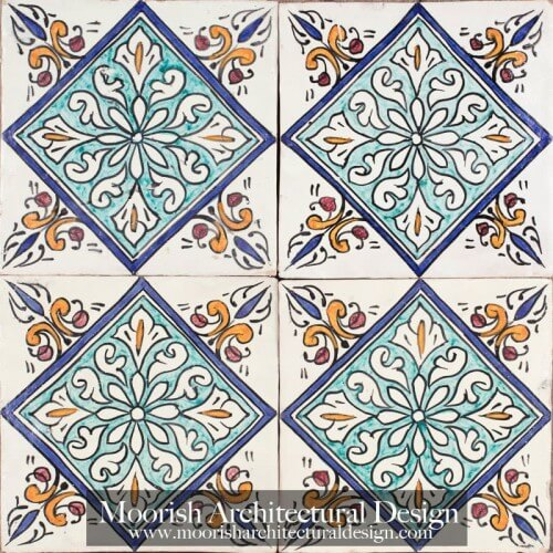 Moroccan Hand Painted Tile 51