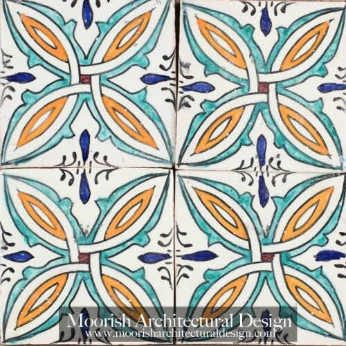 Moroccan Hand Painted Tile 53
