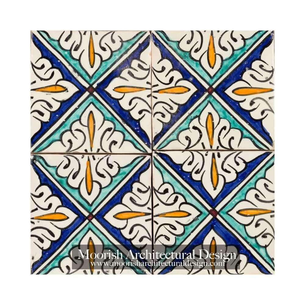Spanish colonial revival bathroom mediterranean tile for Spanish revival tile