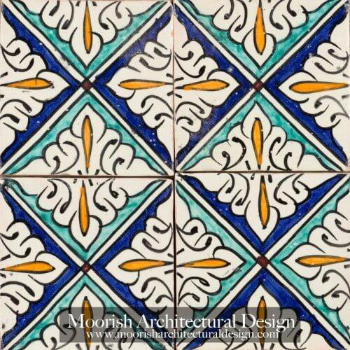 Spanish Colonial Revival Bathroom tiles