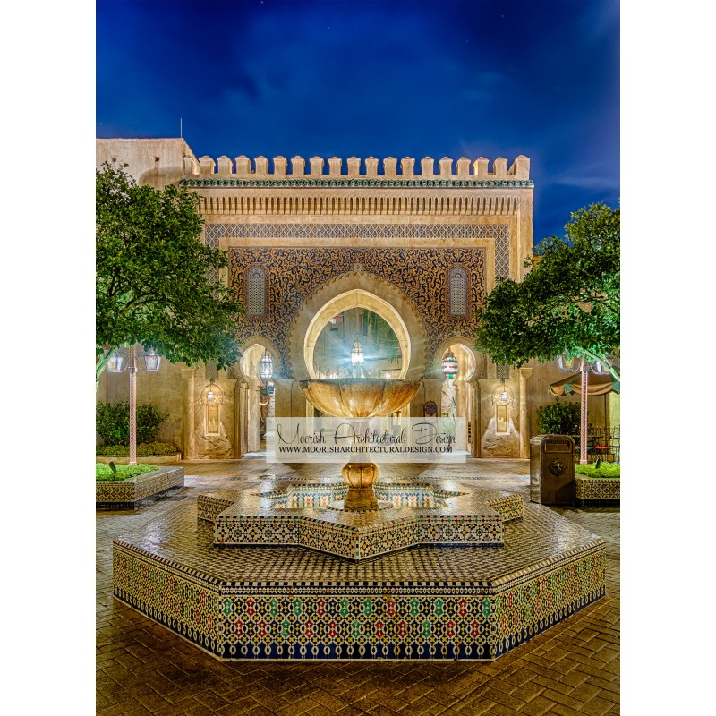 Moroccan courtyard Fountain