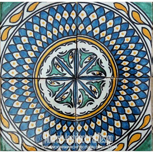 Moroccan Hand Painted Tile 57
