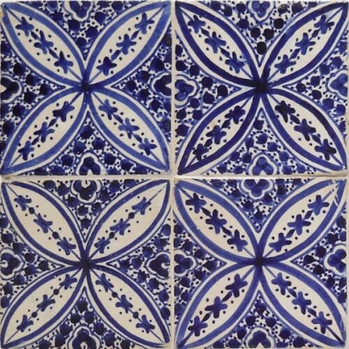 Moroccan Hand Painted Tile 01