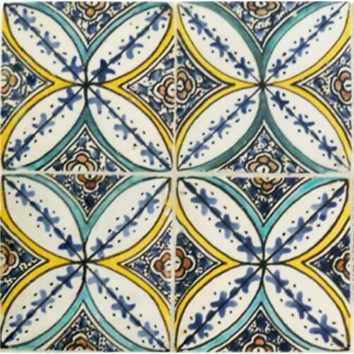 Moroccan Hand Painted Tile 02