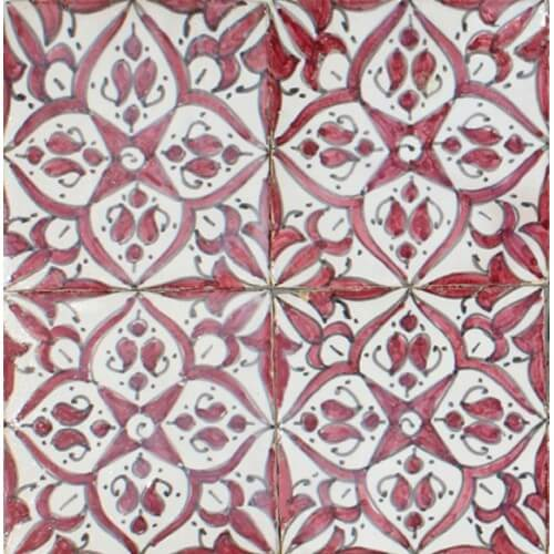 Moroccan Hand Painted Tile 06