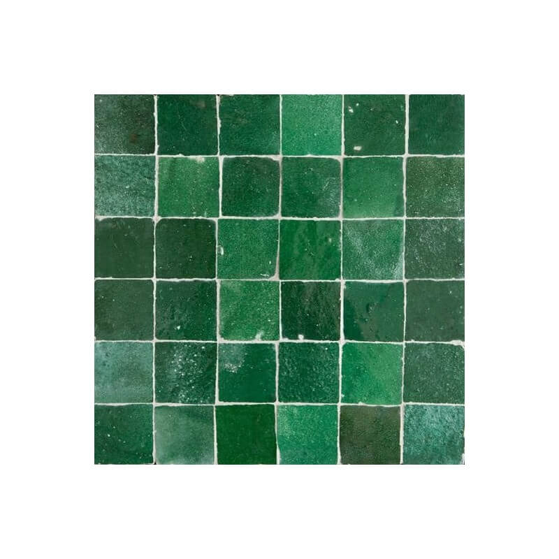 Green Moroccan Tile Emeral Green Zellige