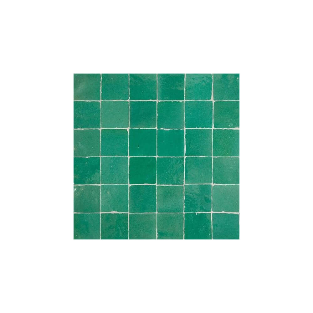 Green Moroccan Tile Miami Green Zellige