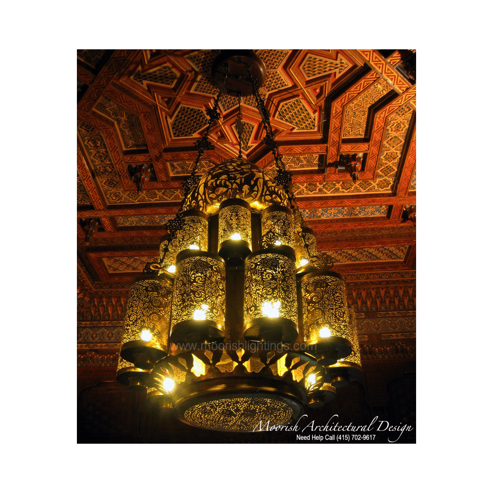 Traditional chandelier large moroccan filigree brass chandelier moroccan chandelier store new york arubaitofo Gallery