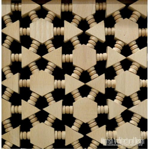 Moroccan Wood Lattice Screen 02