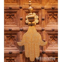 Moroccan hand door knocker