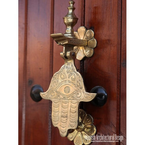 Custom hand door knocker