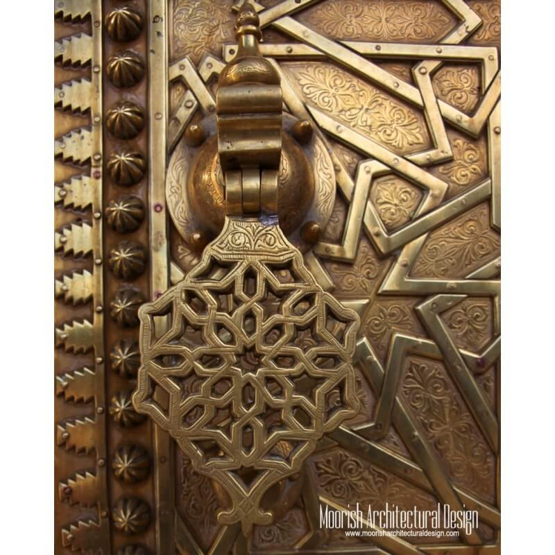Custom Moroccan hand door knocker