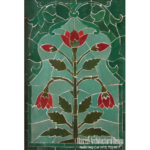 Moroccan Mural backsplash