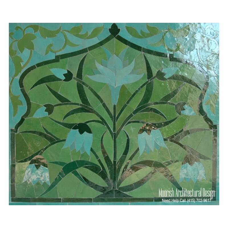 Moroccan Mosaic Tile Mural