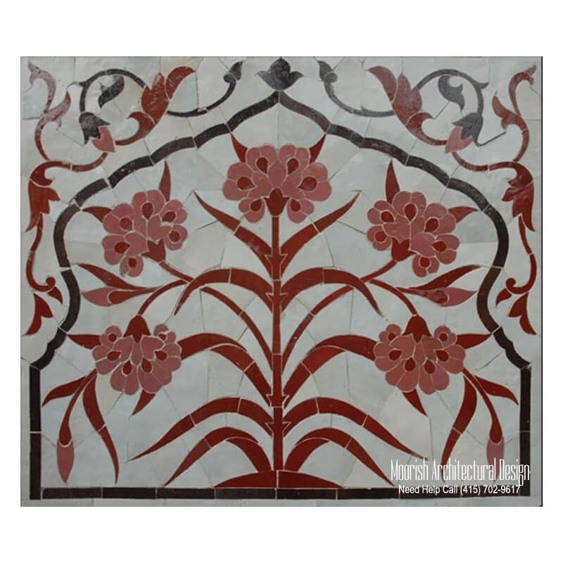 Custom tile murals mosaic tile murals moroccan mosaic for Custom mural tiles