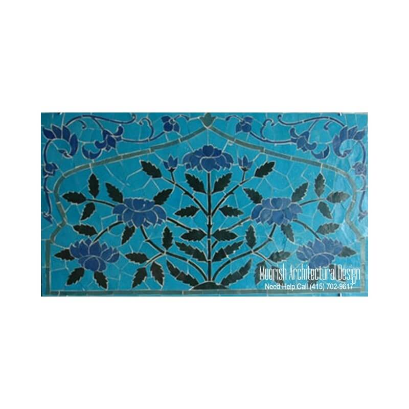 Bathroom mosaic tile murals design ideas moroccan tile for Bathroom mural tiles