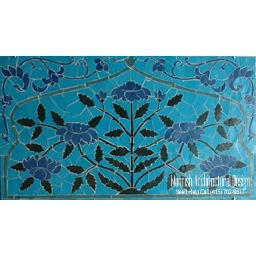 Bathroom mosaic tile murals design ideas