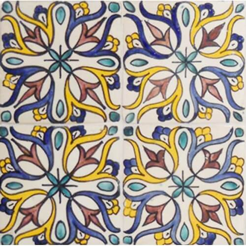 Moroccan Hand Painted Tile 07