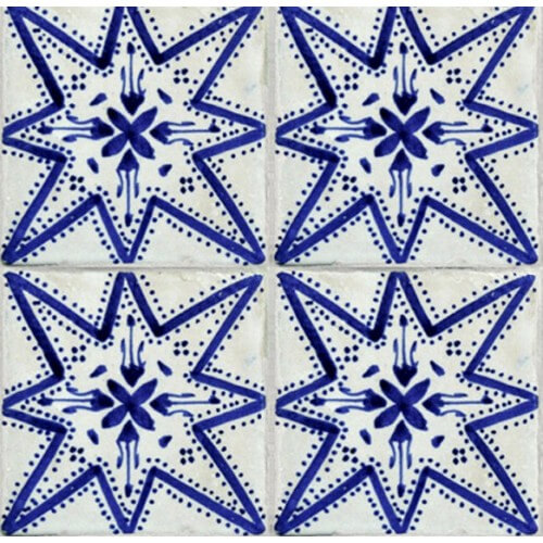 Moroccan Hand Painted Tile 12