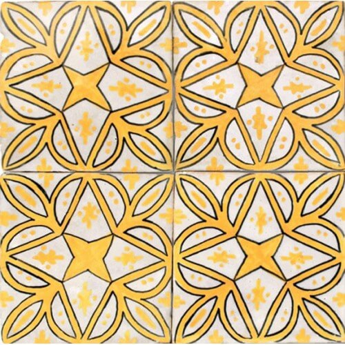 Moroccan Hand Painted Tile 14