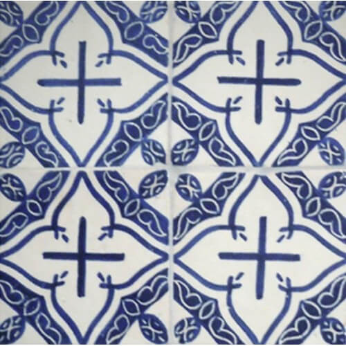 Moroccan Hand Painted Tile 15