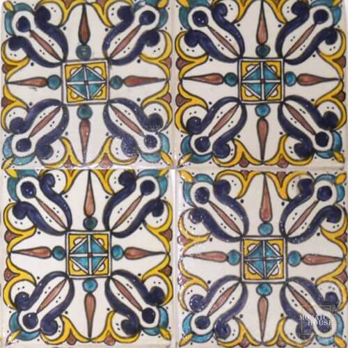 Moroccan Hand Painted Tile 17